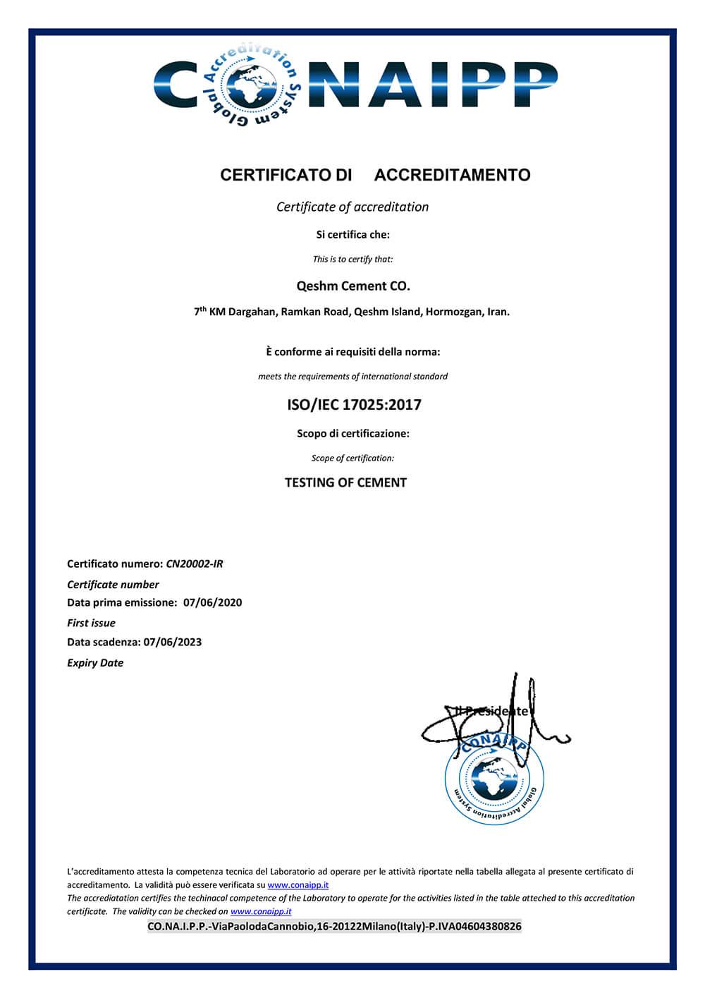 CN20002-IR Qeshm Cememt Co-1